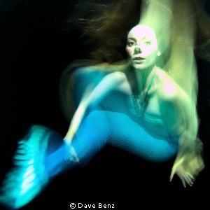 Anna Kaminski underwater... by Dave Benz