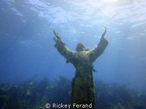 Christ of the Abyss - Key Largo, FL by Rickey Ferand