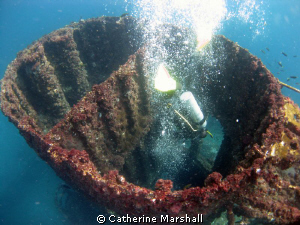 Ex-HMAS Brisbane - an artificial reef, one entry is via t... by Catherine Marshall