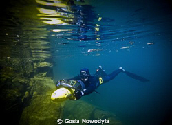 Is so great to feel free when going down into the blue:) by Gosia Nowodyla