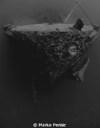 Mooring lines tied to her bow. The Thistlegorm. by Marko Perisic