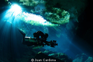 Cavern diving !! by Juan Cardona