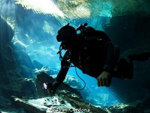 Full Cave diver by Juan Cardona