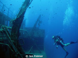 The wreck of the Faroud off of  Zurrieq. Depth 36 metres... by Ian Palmer