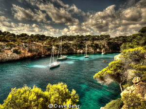 Paradise found... Amazing bay on Mallorca, Spain. by Dave Benz