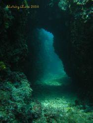 Small tunnel in Adriatic, Cres Island, Croatia. Award win... by Laszlo Maraczi