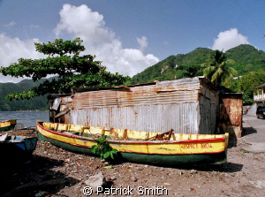 Boat and Boat house.Scotts Head Village, Scotts Head Cove... by Patrick Smith