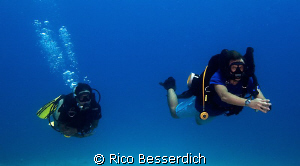 "The difference between a ""normal air"" scuba diver and a s... by Rico Besserdich"