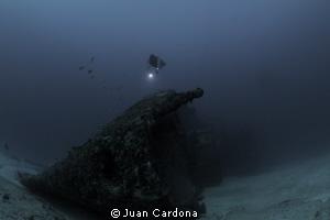 Wreck dive & free Dive by Juan Cardona