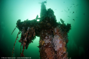 The mast on Frankenwald (voted as the best wreck in Norwa... by Morten Bjorn Larsen