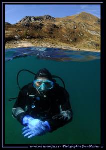 High Altitude Diving with Caroline... Que du bonheur.. :O... by Michel Lonfat