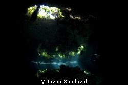 Cenote Taj Majal refraction light effect by Javier Sandoval