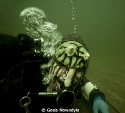 Monster diver :) by Gosia Nowodyla