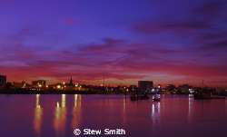 River Itchen sunset in Southampton. by Stew Smith