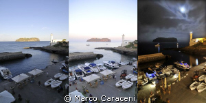 Ventotene Island and St. Stephen's, day, evening and night. by Marco Caraceni