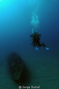 Estoril wreck in Las Galletas, Tenerife, Canary Islands. by Jorge Sorial