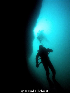 Wall Descent, North Wall, Fathom Five National Marine Par... by David Gilchrist