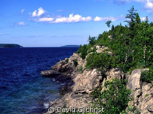 Rugged shoreline, North point, Fathom Five National Marin... by David Gilchrist