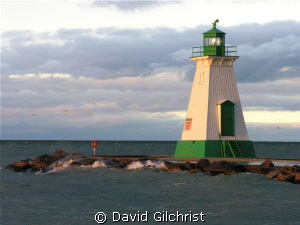 Port Dalhousie Range Light, Lake Ontario. Three significa... by David Gilchrist