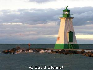 Port Dalhousie Range Light, Lake Ontario. Three significa... by David Gilchrist