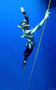 She is freediver :) by Veronika Matějková