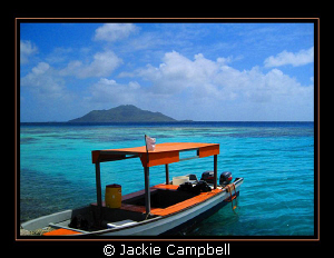 Lunch stop surface interval in Truk Lagoon........beautif... by Jackie Campbell