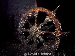 Ship's Wheel, Kingston Wreck-Lake Ontario by David Gilchrist