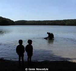 """... """"Daddy said we would be scuba divers like he is ..."""" by Gosia Nowodyla"""
