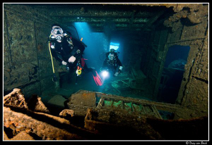 Divers inside the Chrisoula K. by Dray Van Beeck