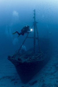 """the wreck of the """"Santa"""" not far from the coast from the ... by Roland Bach"""