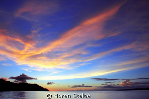 Amazing colourful sun sets every night. TAken with Canon ... by Horen Stalbe