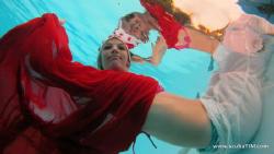 Christmas fun shooting in pool...  no strobe, no flash,... by Tim Ho
