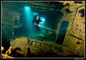 Diver in the Chrisoula K by Dray Van Beeck