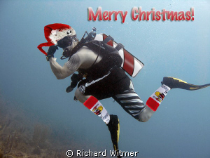 Merry Christmas!!! :D  Photo is my brother, Cal, being hi... by Richard Witmer
