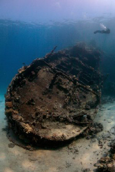 Wreck of the Tug Boat, Red Sea, Egypt. by Jim Garland