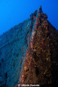The bow of german cargo ship wreck of ww2 by Vittorio Durante