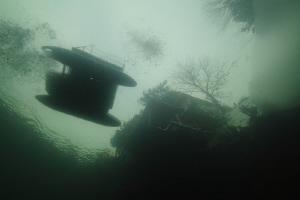 New Year's ice diving by Veronika Matějková