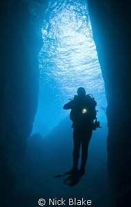Diving the Gozo caves by Nick Blake