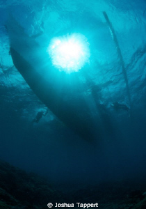 Sunlight from above.  Just ending another great dive in D... by Joshua Tappert