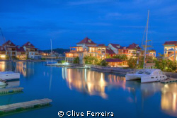 Eden Island Marina Blues by Clive Ferreira