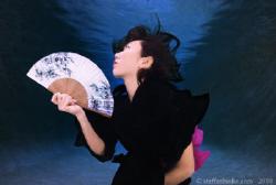 Japanese Lady Underwater by Steffen Binke