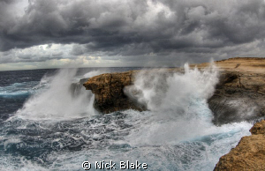 Storm over Gozo.