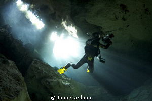 caverns diving by Juan Cardona