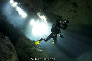 caverns diving by Juan Cardona