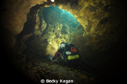 Freshwater cave system Hart Springs in North Florida. Not... by Becky Kagan