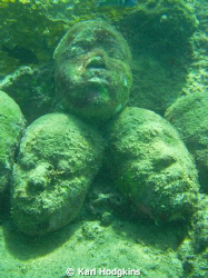 Faces in the sand Underwater Sculpture Park 15' - 25' / ... by Karl Hodgkins