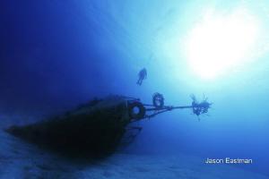 Wreck of the M.V. Tibbets, Cayman Brac January 1st, 2011... by Jason Eastman