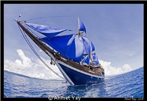 Dive boat, Raja Ampat by Ahmet Yay