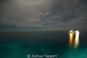 Moonlit night on the Azores by Joshua Tappert