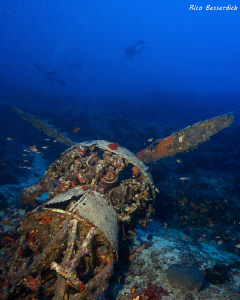 Wreckage of an italian bomber from the second world war. ... by Rico Besserdich